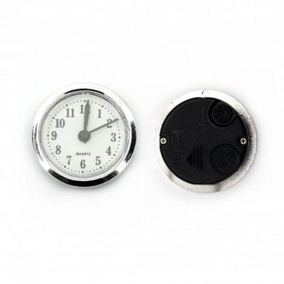 Часовник за вграждане 47x16 мм (с батерия) цвят сребро