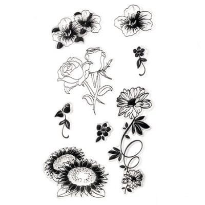 Силиконов печат 11x20 см цветя