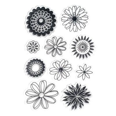 Силиконов печат 11x16 см цветя