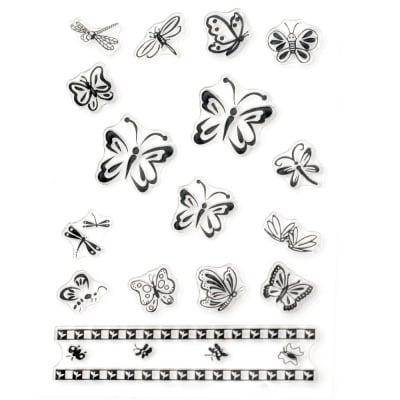 Силиконов печат 11x16 см пеперуди и водни кончета