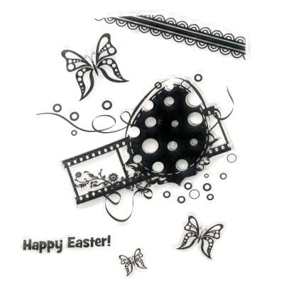 Силиконов печат 15x18 см Happy Easter