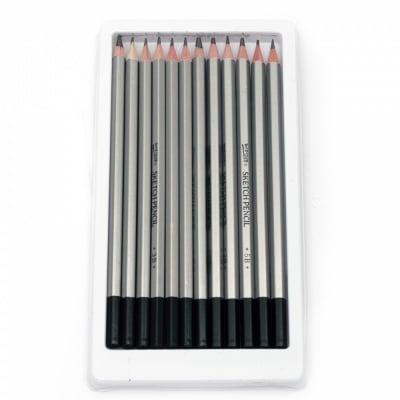 Комплект графитни моливи sketching за графика и дизайн - 12 броя