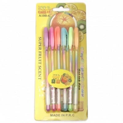 Комплект химикали с преливащи цветове ароматизирани -6 броя