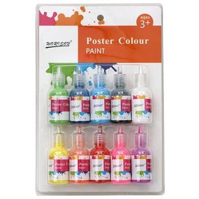 Комплект плакатни бои 10 цвята x 30 мл