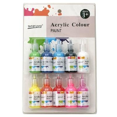 Комплект акрилни бои 10 цвята x 30 мл