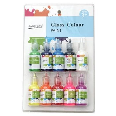 Комплект бои за стъкло 10 цвята x 30 мл