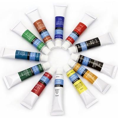 Комплект акварелни бои 12 цвята x 12 мл