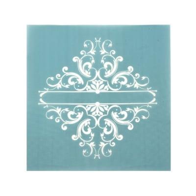 Шаблон за многократна употребa текстилен 10.5x11 см - флорален мотив № 5