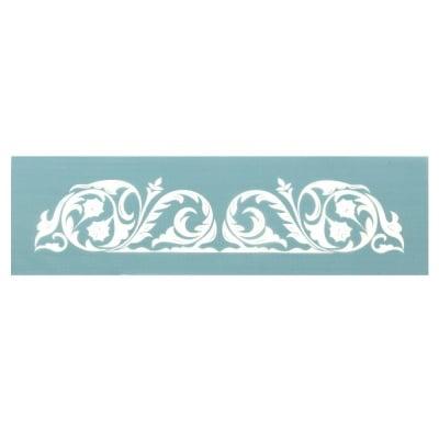Шаблон за многократна употребa текстилен 16.5x8,5 см - флорален мотив № 3