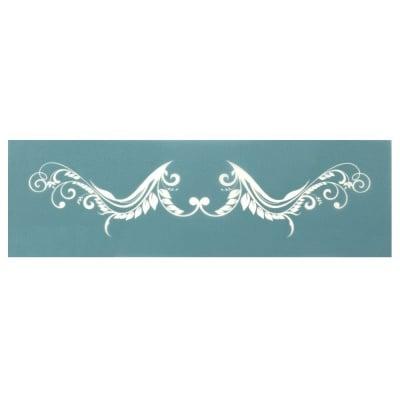 Шаблон за многократна употребa текстилен 16.5x8,5 см - флорален мотив № 1