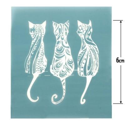 Шаблон за многократна употребa текстилен 8x9 см - котки №6