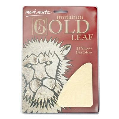 Декоративно фолио имитация на варак Mont Marte злато 14x14 см. -25 листа