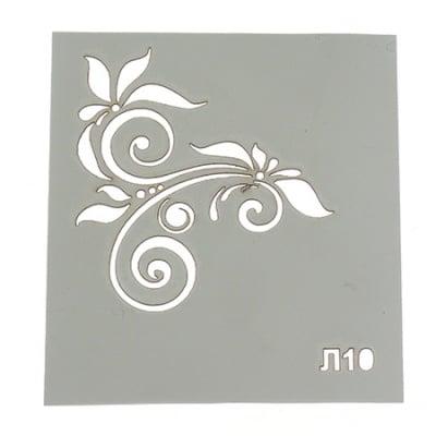 Шаблон за многократна употреба размер на отпечатъка 5x6.5 см Л10