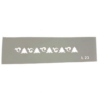 Шаблон за многократна употреба размер на отпечатъка 10,5x1 см Л23
