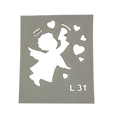 Шаблон за многократна употреба размер на отпечатъка 3x4.5 см Л31