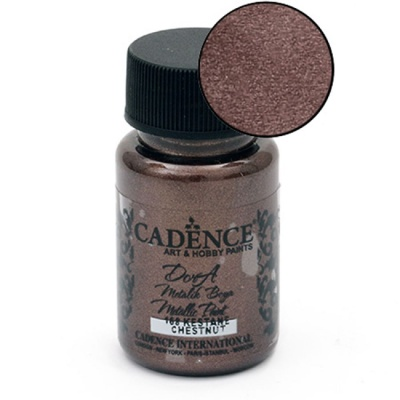 Акрилна боя металик CADENCE DORA 50 мл. - CHESTNUT 168