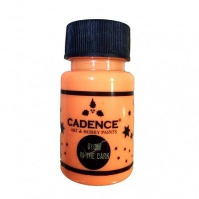 Акрилна боя светеща на тъмно CADENCE 50 мл - ORANGE 580