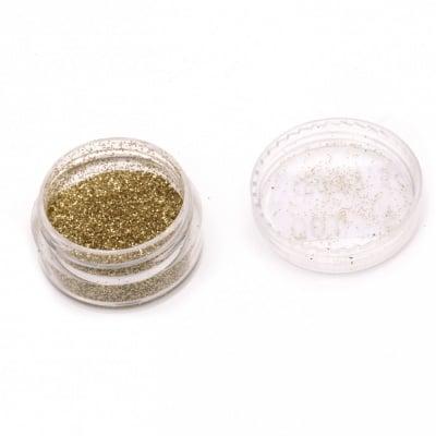 Оцветител за смола фин брокат 5 гр в кутия - злато