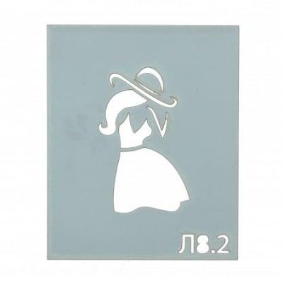 Шаблон за многократна употреба размер на отпечатъка 3x5.5 см Л8.2