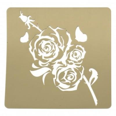 Шаблон за релеф и Mix media 20х20 мм роза