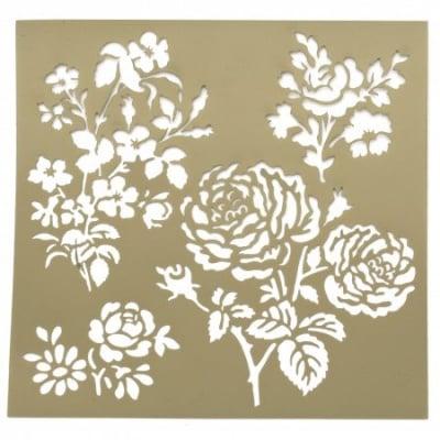 Шаблон за релеф и Mix media 20х20 мм рози и цветя