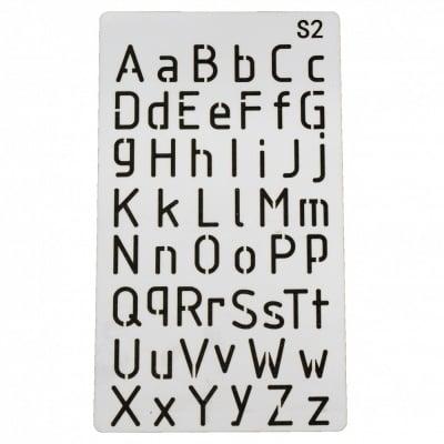 Шаблон за многократна употреба универсален 180х100 мм азбука S2