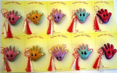 Мартеници ръчичка с усмивка 10 броя