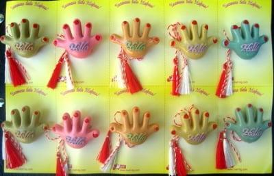 Мартеници ръчичка HELLO 10 броя