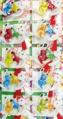 Мартеници заек -светещи 10 броя