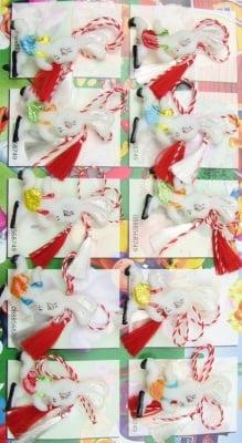 Мартеници зайче-светещи 10 броя