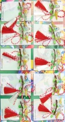 Мартеници гълъби на клон-светещи 10 броя