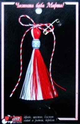 Мартеница ресна с украса 10 броя