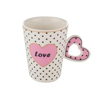Чаша с розово сърце
