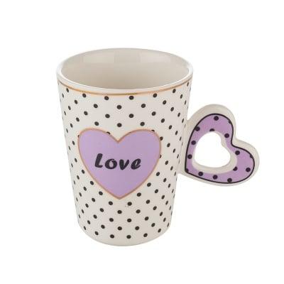 Чаша с лилаво сърце