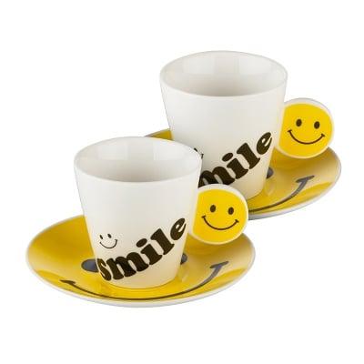 Чаша с чинийка емотикон
