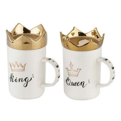 Сет порцеланови чаши за крал и кралица - King &Queen
