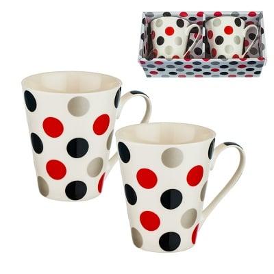 Комплект 2 чаши за кафе/чай с точки