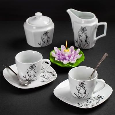 Flower сет за кафе