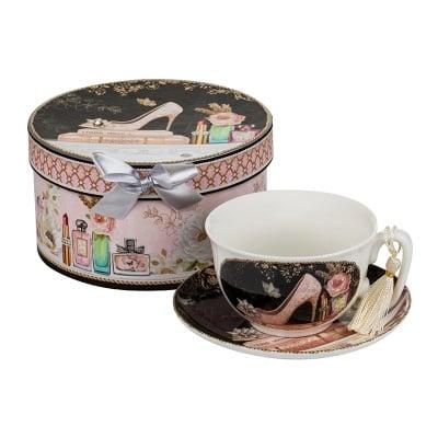 Комплект чаша и чинийка Парфюм