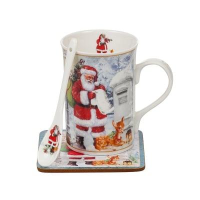 Дядо Коледа чаша с лъжичка
