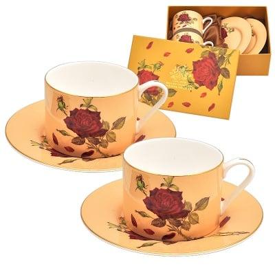 Роза крем комплект 2 чаши класик