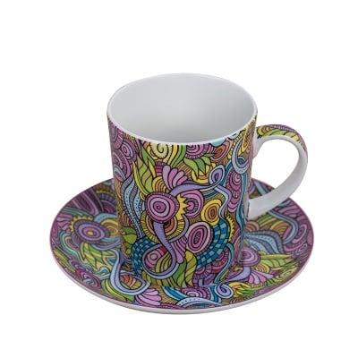 Комплект Абстракт чаша с чинийка