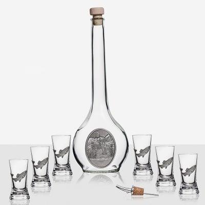 Сет бутилка Рибар + 6 чаши