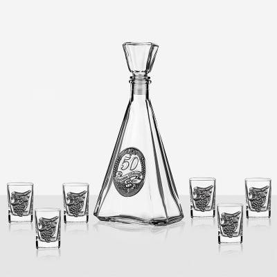 Сет бутилка+6 чаши - 50 години