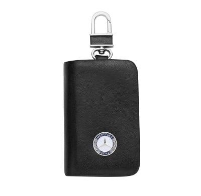 Ключодържател с лого на Mercedes - черен