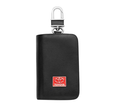 Ключодържател с лого на Toyota - черен
