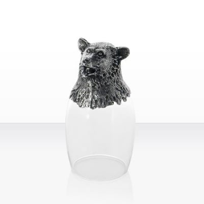 Чаша ракия мечка
