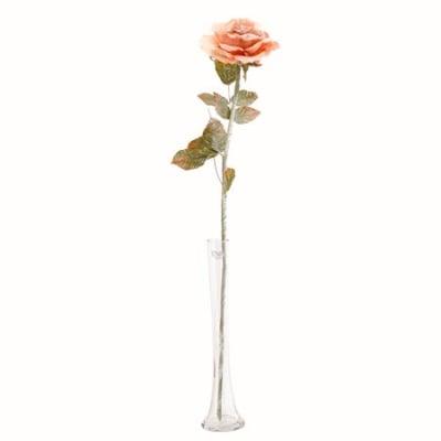 Роза стрък тъмно розова