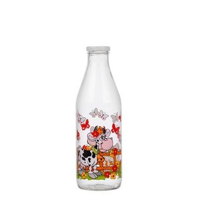 Стъклена бутилка за мляко