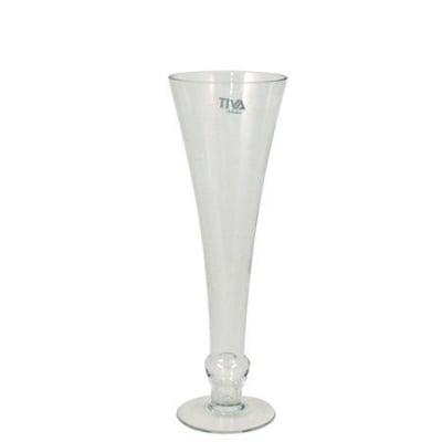 Стъклена ваза 34 см.